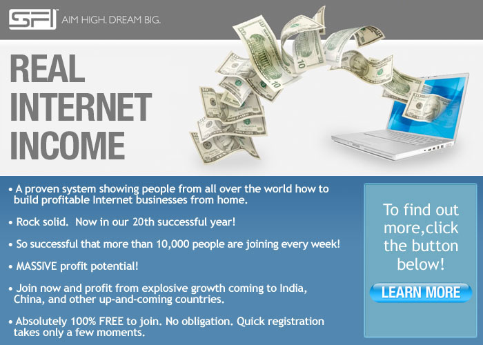 SFI Affiliate Program - Join FREE!!!